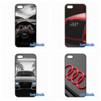 [globalbuy] Audi Car Logo Hard Phone Case Cover For Apple iPod Touch 4 5 6 iPhone 4 4S 5 5/3596607