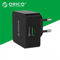 Orico Charger USB 1 Port Qualcomm Quick Charger 3.0 - QTW-1U - Black
