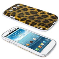 2PCS New Leopard Skin Back Hard Cover Case for Samsung Galaxy S3 III i9300 i747
