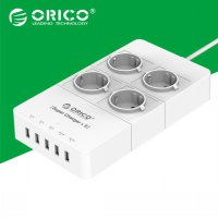 Orico Wall Charger with 4 AC Outlet and 5 USB Super Charger Port - HPC-4A5U - White