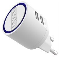 Vidvie Dual USB Charger 2.1A with Micro USB Cable - VV-021 - White