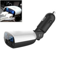 Taffware Smart Car Charger Dual USB with LCD - Black White