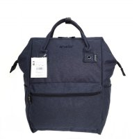 Tas Unisex Anello Ori Mottled Backpack Large - Navy