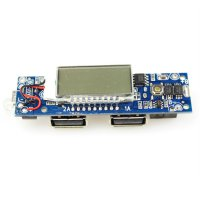 DIY Circuit Board 2 USB Port LCD Display 5 Section For Power Bank Case