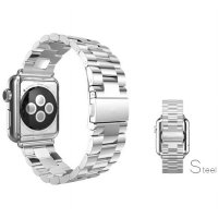 Classic Luxury Stainless Steel Band for Apple Watch 42mm Series 1 & 2 - Silver