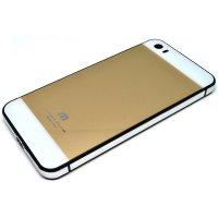 Aluminium Tempered Glass Hard Case for Xiaomi Mi5 - Golden/Silver