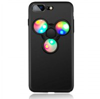 LED Fidget Spinner Smartphone Case for iPhone 7 - Black