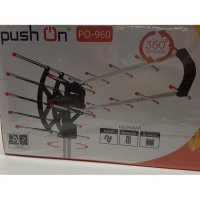 Antena Tv Outdoor PUSH ON dengan Remote dan Booster + Kabel