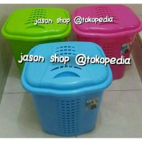 Keranjang baju Green leaf Vega/Laundry basket Green leaf Vega