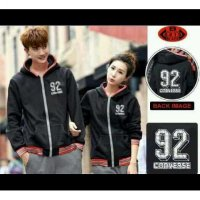 Jaket Couple Converse Black
