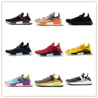 New arrival human race Hu trail x pharrell williams men running shoes Solar Pack Afro Holi Blank Canvas mens trainers women sports sneaker Men US8.5=Eu 42 As Picture