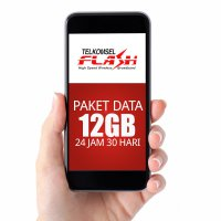 Telkomsel FLASH Paket Data 12GB, 30hr