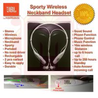 Sporty Stereo Bluetooth Headset JBL - Stereo Handsfree Bluetooth JBL - Headphone Bluetooth JBL