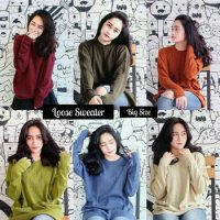 Sweater Wanita Loose (sweater lucu, sweater murah, sweater terbaru, jumper, blazer, jas, coat)
