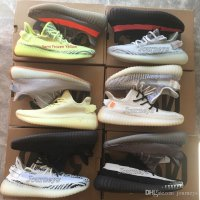 Best Quality 350 V2 Men Shoes With Box Sesame Static Butter Men Running Shoes Cream White 2019 Women Sport Designer Sneakers Mens US 9.5(EUR43 1/3) #10 Black Bred With Box And Keychain