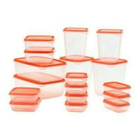 Ikea Pruta/ Toples Container Set isi 17Pcs/ Kotak Makan/Box ORANGE ORI