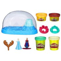 PDH104 Play Doh Disney Frozen Sparkle Snow Dome Set Original Item