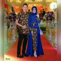 TM-00050 Couple minna batik busana muslim couple ummina sarimbit pesta