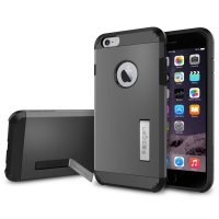 SGP Tough Armor Plastic + TPU Combination Case with Kickstand for iPhone 6 Plus (OEM) - Gray