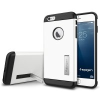 SGP Tough Armor Plastic + TPU Combination Case with Kickstand for iPhone 6 Plus (OEM) - White