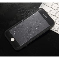 Slim Waterproof Case Full Body Protection for iPhone 6 Plus - Black