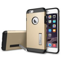 SGP Tough Armor Plastic + TPU Combination Case with Kickstand for iPhone 6 Plus (OEM) - Golden