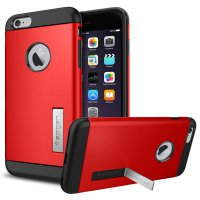 SGP Tough Armor Plastic + TPU Combination Case with Kickstand for iPhone 6 Plus (OEM) - Red