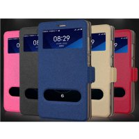 Taff Leather Flip Dual Window Case Asus Zenfone 6 - Blue