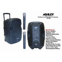Murah !!! Speaker Portable wireless meeting Ashley PA 15 E ( 15 inch )