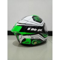 (Promo Gajian) Helm Full Face INK CL Max White Black Green