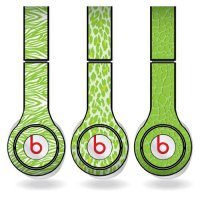 [poledit] VictoryStore Lime Green Animal Print Set of 3 Headphone Skins for Beats Solo HD /10473530
