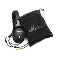 Marshall Monitor Headphones Noise Cancelling Headset Deep Bass Studio Rock DJ Hi-Fi Guitar Rock headphone Earphone with mic High Quality Black With Retail Package