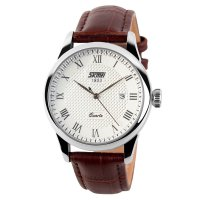 SKMEI Jam Tangan Analog Pria - 9058CL - Brown/White
