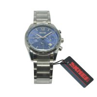 SKMEI Jam Tangan Analog Stainless Steel - 9096CS - Blue