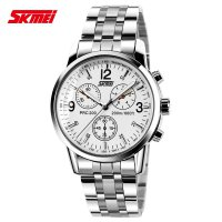 SKMEI Jam Tangan Analog Stainless Steel Strap - 9070CL - White