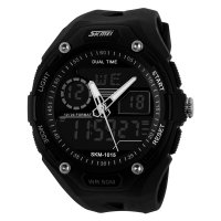 SKMEI Jam Tangan Analog Digital - AD1015 - Black