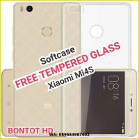 Xiaomi Mi4s Softcase Ultrathin Jelly FREE Tempered Glass Mi 4s Mi4 s
