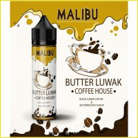 E LIQUID MALIBU BUTTER LUWAK COFFEE HOUSE 60ML 3MG n 6MG
