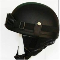 Helm Nazi Chip Club Helm Chip Chips Clup Hitam Retro Klasik Vespa