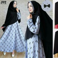 GAMIS JUMBO SYAR'I BUSUI / DRESS/ LONGDRESS PESTA / GROSIR HIJAB MURAH CREPE 392