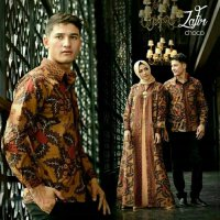 couple batik zafir / gamis couple