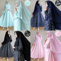 GAMIS JUMBO SYAR'I BUSUI / DRESS/ LONGDRESS PESTA / GROSIR HIJAB MURAH WOLVIS