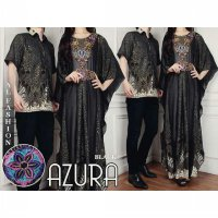 Cp Couple Batik Gamis Azura Black Couple