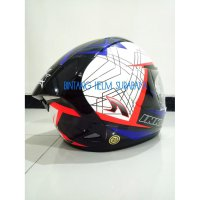 Helm Full Face INK CL Max White Red Fluo Black Blue