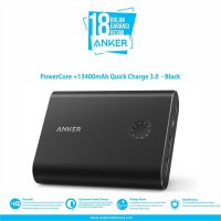 Powerbank ANKER PowerCore+ 13400mAh Quick Charge 3.0 -A1316H11-(RESMI)