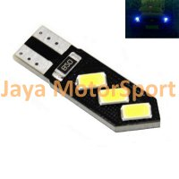 Lampu LED Mobil / Motor / Senja T10 w5w / Wedge Side CANBUS 6 SMD 5730 Oblique - Blue