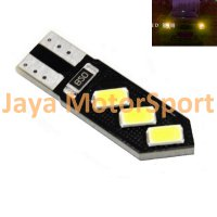 Lampu LED Mobil / Motor / Senja T10 w5w / Wedge Side CANBUS 6 SMD 5730 Oblique - Yellow