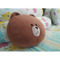 LINE BROWN DOLL CUSHION OFFICIAL LIMITED EDITION - Coke