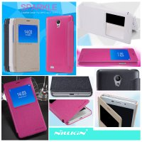 Oppo Joy 3 Nillkin Sparkle Leather Case Casing Cover Flip