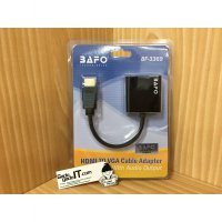 BAFO Cable/Kabel HDMI To VGA Adapter With Audio Output Jack Plug 3.5mm